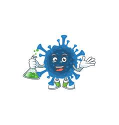A genius professor coronavirus desease with glass vector