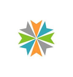 abstract arrow circle star logo template vector image