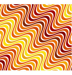 abstract color wavy background line pattern vector image