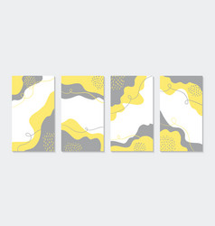 Abstract hand drawn templates for instagram vector