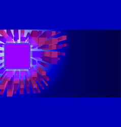 abstract technology blue and purple background vector image