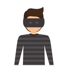Avatar thief man vector