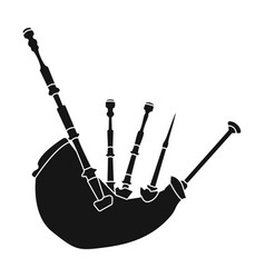 bagpipes from a cow s stomachthe national musical vector image