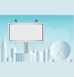 Billboard advertisement commercial blank vector