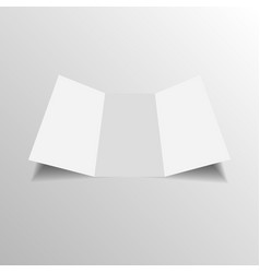 blank three folded fold paper leaflet vector image