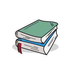 book on a white background vector image