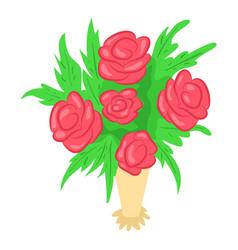 bouquet icon isometric style vector image
