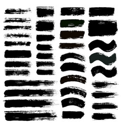 Brush strokes set 12 vector