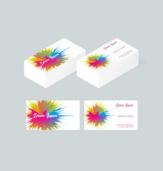 business card template 5 vector image