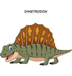 cartoon funny dimetrodon vector image