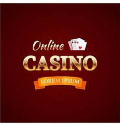 casino logotype concept typography design vector image