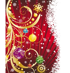 christmas new year card for design use vector image