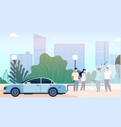 City air pollution world problem environment vector