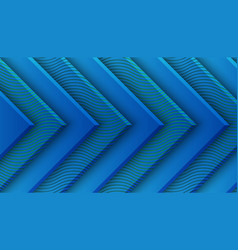 classic blue background with 3d style rectangle vector image
