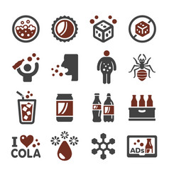 cola icon vector image