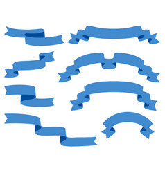 collection of ribbons - with blue - eps10 vector image