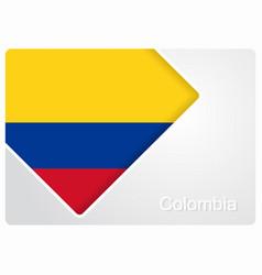 Colombian flag design background vector