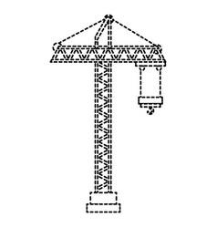 Construction crane tower icon vector