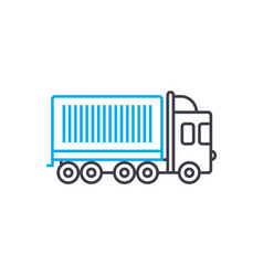 container shipping thin line stroke icon vector image