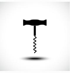corkscrew icon silhouette vector image