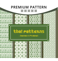 creative seamless traditional thai pattern vector image