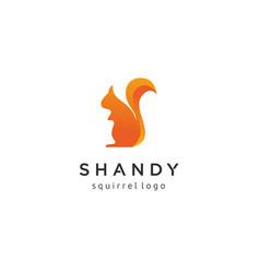 creative squirrel logo design vector image