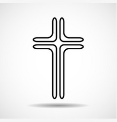 cross christian symbol sign of lines vector image