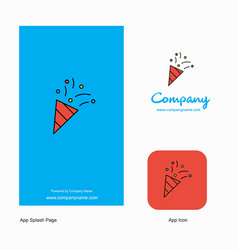 decorations company logo app icon and splash page vector image