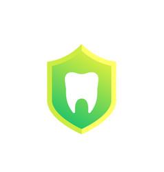 Dental insurance icon on white vector