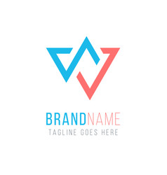 design triangle stock arrows up and down logo vector image