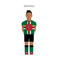 Dominica football player Soccer uniform vector