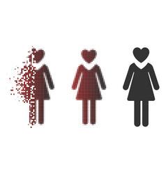 Dust pixel halftone mistress icon vector