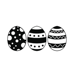 Easter eggs black simple icon vector