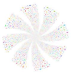 Electric strike fireworks swirl flower vector