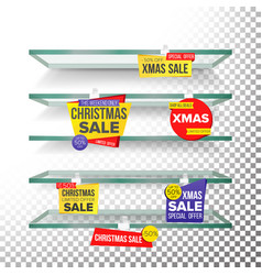 empty shelves holidays christmas sale advertising vector image