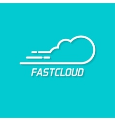 Fast cloud logo symbol concept of computing vector