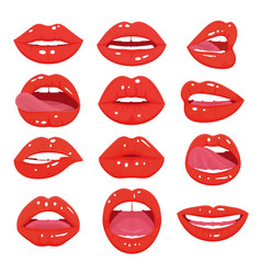 female red lips vector image