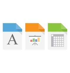 File document icons vector