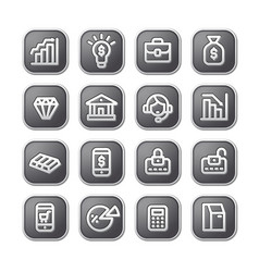 finance icons and buttons vector image