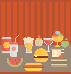 Food on the table vector