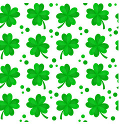 Four-leaf clover for luck seamless vector