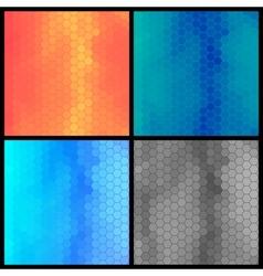 Geometric Background Set vector image