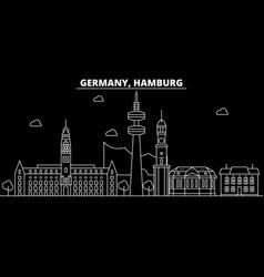 hamburg silhouette skyline germany - hamburg vector image