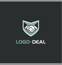 Handshake logo for business vector