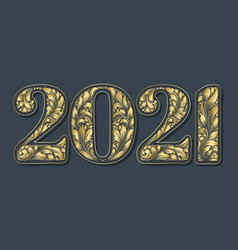 happy new year background with 2021 sign vector image