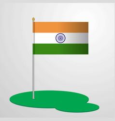 India flag pole vector