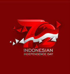 Indonesian independence day logo vector