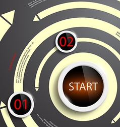 Info graphic design vector image