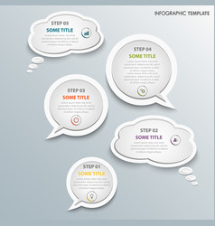 Info graphic with white design talking bubbles vector