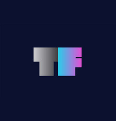 initial alphabet letter tf t f logo company icon vector image